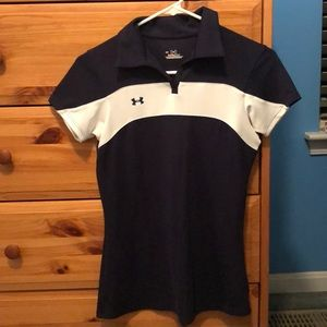 Under Armour heat gear navy blue polo